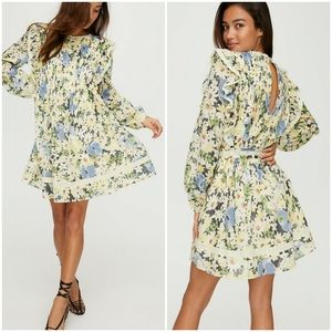 Wilfred Alia Ditsy Floral High Neck Ruffle Dress